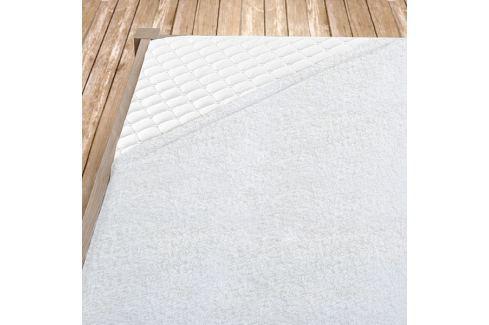 Napínací froté prostěradlo bílé Dvoulůžko Bavlna - froté Froté prostěradla