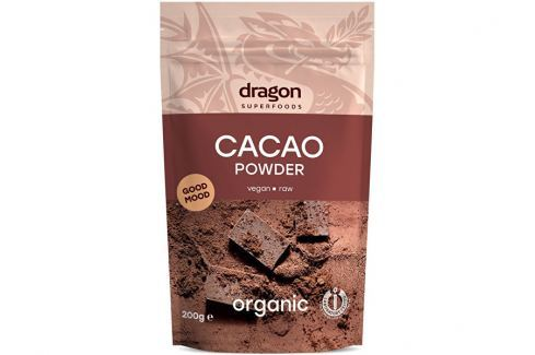 Dragon superfoods Bio Kakao nepražené prášek 200g Kakao a Kakaové boby