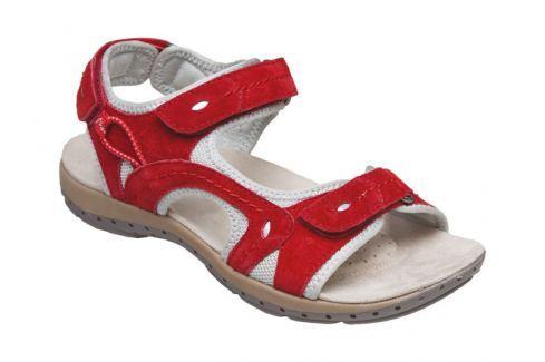 SANTÉ Zdravotní obuv dámská MDA/157-7 červená vel. 40 Sandále