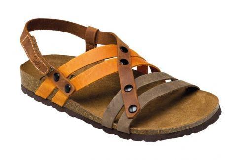 SANTÉ Zdravotní obuv dámská IB/7200 hnědo-oranžová 35 Přístroje a pomůcky
