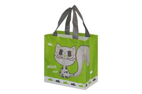 Kappus ECO taška KityKat 10 barevných motivů zelená Bezobalové nakupování