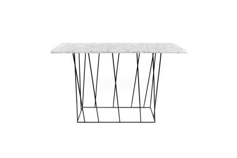 TH Odkládací stůl LOWER MRAMOR 120 x 76 cm (Hnědý mramor s černou ocelí)  Odkládací stolky