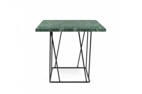 TH Konferenční stolek  LOWER MRAMOR 50 x 40 cm (Zelený mramor s černou ocelí)  Konferenční stolky