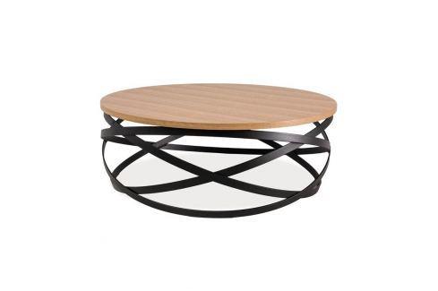 16 Konferenční stolek Lomas dub/černá Konferenční stolky