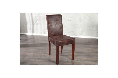 INV Jídelní židle Bunde kávová vintage Jídelní židle