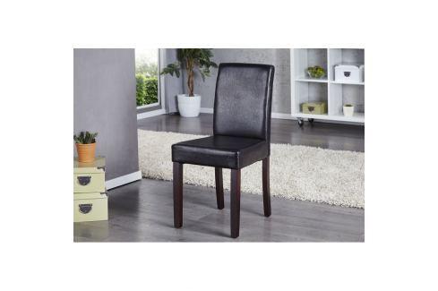 INV Jídelní židle Bunde tmavá káva antik Jídelní židle