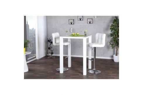 INV Barový stůl Lucern bílý 80cm Barové stolky