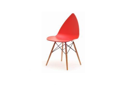 Jídelní židle RUSHIS Červená Jídelní židle