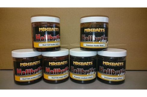 Mikbaits Halibutky v dipu 250ml Pelety