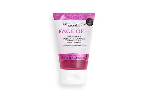 Revolution Slupovací pleťová maska Pink Glitter Face Off  50 ml Pleťové masky