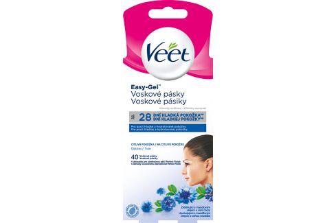 Veet Voskové pásky na obličej pro citlivou pokožku  40 ks/bal. Vosky a pásky
