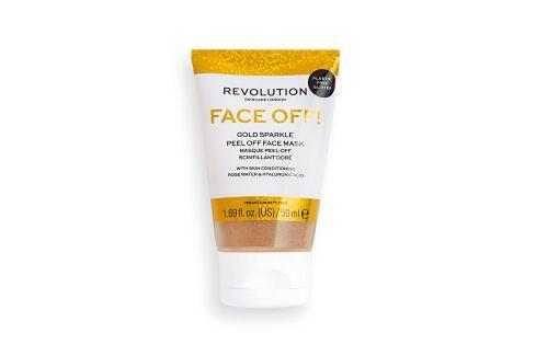 Revolution Slupovací pleťová maska Gold Glitter Face Off  50 ml Pleťové masky