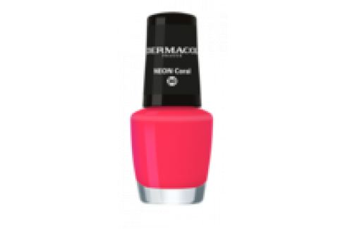 Dermacol Neonový lak na nehty 30 Neon Coral 5 ml Laky na nehty