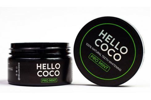Hello Coco Aktivní uhlí na bělení zubů s příchutí máty 100 % Natural Teeth Whitening PRO MINT  30 g S bělícím účinkem