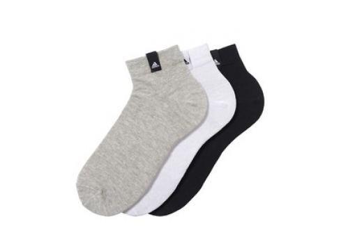 Pánské ponožky adidas Per La Ankle 3 páry Pánské ponožky