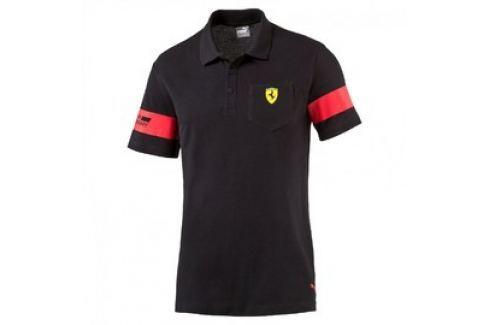 Pánská polokošile Puma Ferrari SF Polo 1 black černá Pánská trička