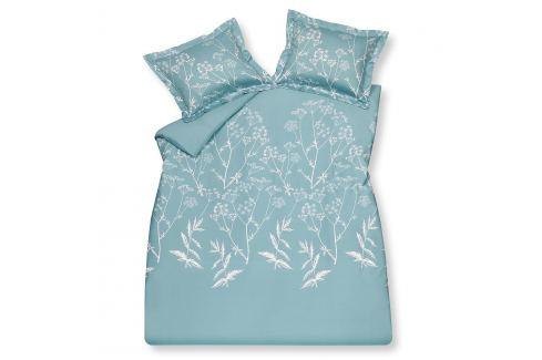 Vandyck Luxusní saténové povlečení VANDYCK Sketch Misty blue - 140x200-220 / 60x70 cm Ložní povlečení