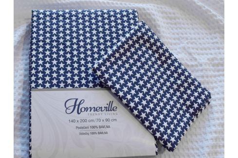 Homeville Homeville povlečení 100% bavlna Jutta 140x200cm+70x90cm Ložní povlečení