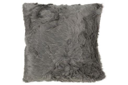 Home collection Dekorační polštářek imitace kožešiny 48x48 cm - Šedohnědá Dekorační polštáře