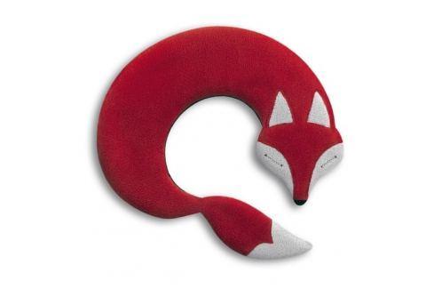 Leschi Hřející polštářek lišák Noah 30x25cm červená/černá Dekorační polštáře