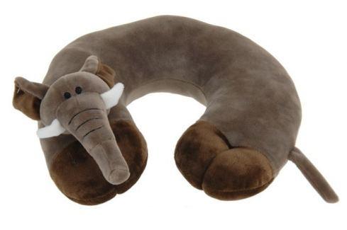 Home collection Plyšový cestovní polštářek slon 29x29,5cm Dekorační polštáře