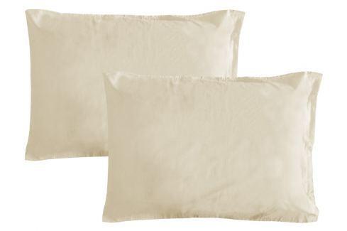 Gipetex Natural Dream Povlak na polštář italské výroby 100% bavlna - 2 ks krémová - 2 ks 70x90 cm Ložní povlečení