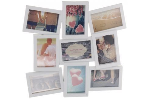 Home collection Rám na 9 fotek 42,5x48cm bílý Nástěnné dekorace