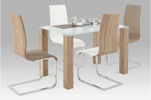 Jídelní stůl AT-1055 SRE + 4 jídelní židle WE-5021 Autronic JÍDELNÍ SETY