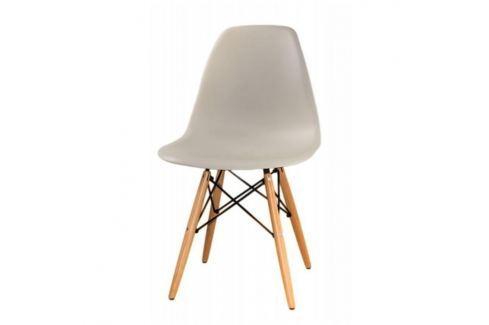 Židle CINKLA 2 NEW šedá / buk Tempo Kondela JÍDELNÍ ŽIDLE