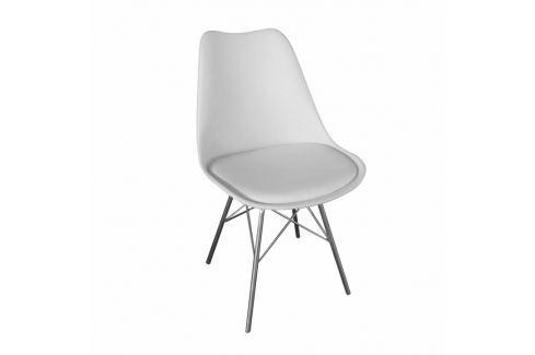 Židle TAMORA bílá Tempo Kondela JÍDELNÍ ŽIDLE