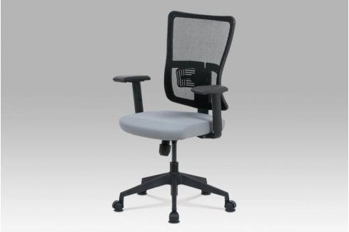 Kancelářská židle KA-M02 GREY šedá / černá Autronic KANCELÁŘSKÉ ŽIDLE A KŘESLA