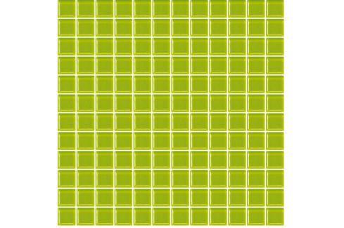 Skleněná mozaika zelená 30x30 cm lesk MOS25PI Obklady a dlažby